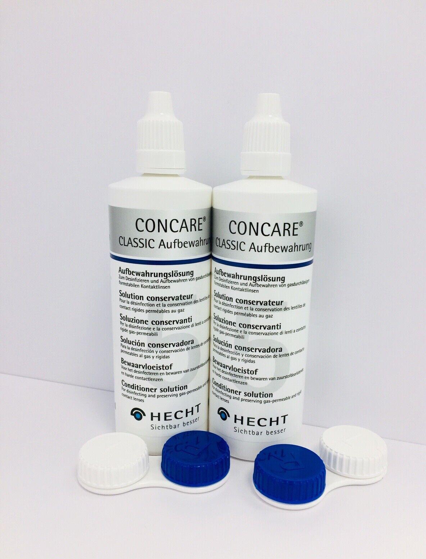 2x Concare Aufbewahrungslösung für harte Kontaktlinsen , je 120 ml - DOPPELPACK