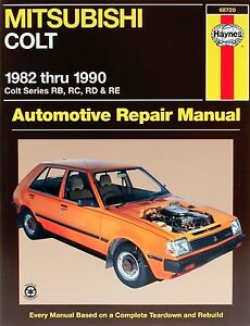 HAYNES-WORKSHOP-REPAIR-SERVICE-MANUAL-BOOK-MITSUBISHI-COLT-RB-RC-RD-RE-1982-1990