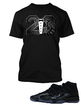 """Tee Shirt to Match  Air Jordan 11 """"Cap And Gown"""" Mens Graphic Big Tall Small T"""