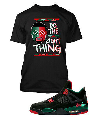 - Spike Lee Tee shirt to Match Jordan 4 Shoe Do the Right Thing Men Big & Tall