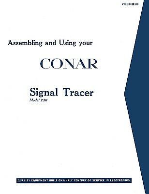 Conar Model 230 Signal Tracer Assembly Operating Manual