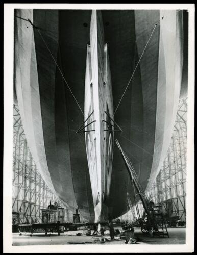 1936 Zeppelin LZ 129 Hindenburg Airship German Hangar Type 1 Original Photo