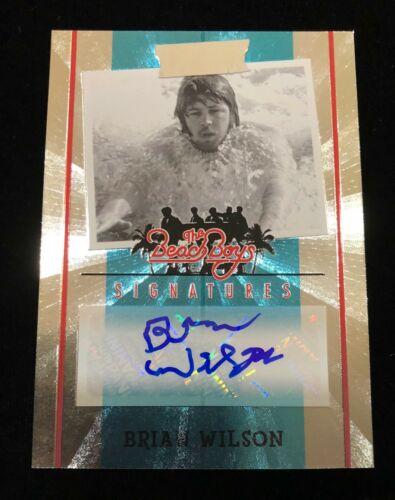 BRIAN WILSON / THE BEACH BOYS 2013 PANINI AUTO AUTOGRAPHED SIGNATURE CARD  / 70