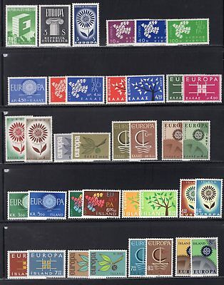 Europa Collection to 1967 All MNH 162 Stamps Incl Better Sets