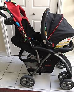 Excellent Condition Travel System Stroller with Added Rain Cover