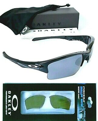 Oakley Quarter Jacket Black Lens & Polarized PRIZM Shallow Water Lens Combo (Water Quarter)