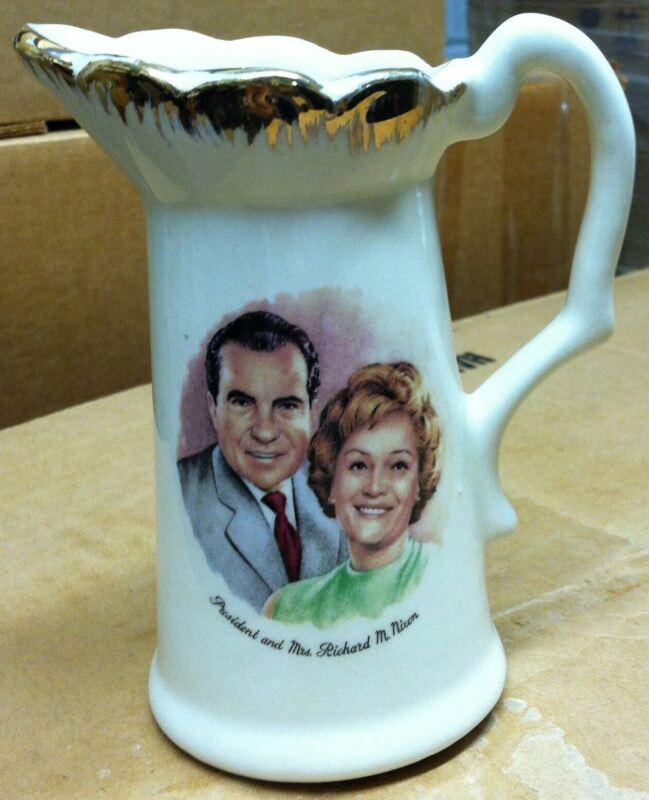 President Richard Dick and Pat Nixon Pitcher Republican USA America