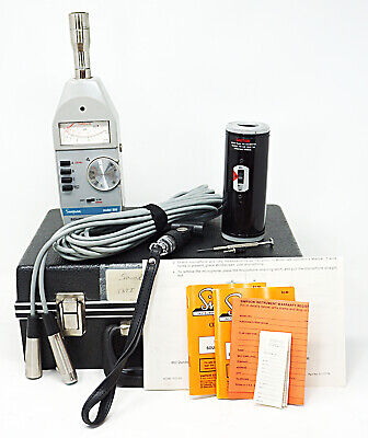 Simpson Model 886 Sound Level Meter Type 2 W 890 Calibrator Kit - Tested
