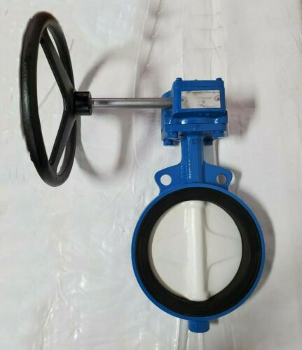 "Butterfly Valve, 8"" #150 Wafer Style, Gear Operated, Ductile Iron"
