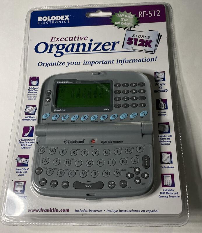 Vintage Rolodex 512K Executive Electronic Organizer RF 512 - NIB Complete