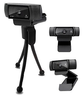 Logitech HD Pro Webcam C920, Widescreen Video Recording,1080p Camera with Tripod