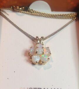 Beautiful Boxed Australian Opal necklace Cluster is 10 mm across Oatley Hurstville Area Preview