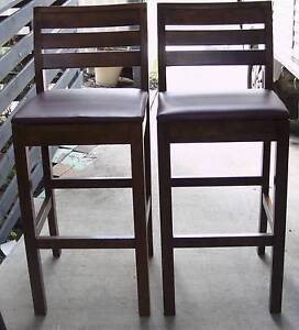 Bar stools, modern high back, upholstered seats Inala Brisbane South West Preview