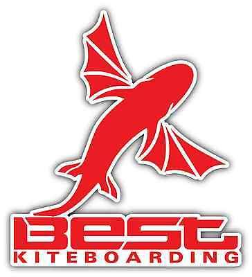 Best Kiteboarding Kite Kiteboard Surfing Red Bumper Window Sticker Decal