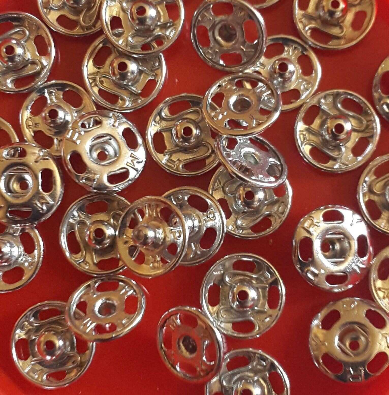 6 - 32 Stk. Druckknöpfe aus Metall zum Annähen 7mm Druckknopf