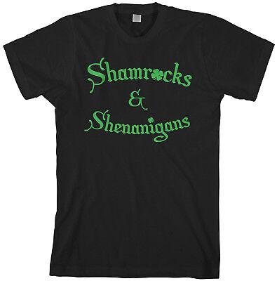 St Patricks Day Shirts Men (Shamrocks & Shenanigans Men's T-Shirt Irish St Patricks)