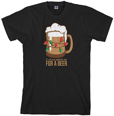 Most Wonderful Time For A Beer Men's T-Shirt Christmas ()