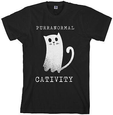 Purranormal Cativity Ghost Cat Men's T-Shirt Halloween