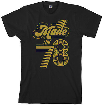 Made In 1978 Men's T-Shirt 40th Birthday Party Gift Idea 78 (Adult Male Party Ideas)
