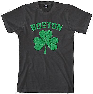 Threadrock Men's Boston Shamrock (Green) T-shirt Irish Pride - Irish Shamrock Green T-shirt