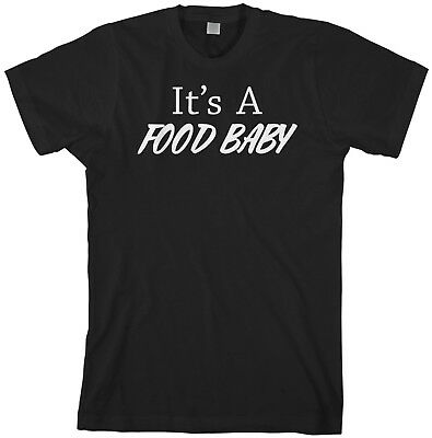 It's A Food Baby Men's T-Shirt Pregnancy Reveal Shower Gift - Baby Shower Gifts For Men