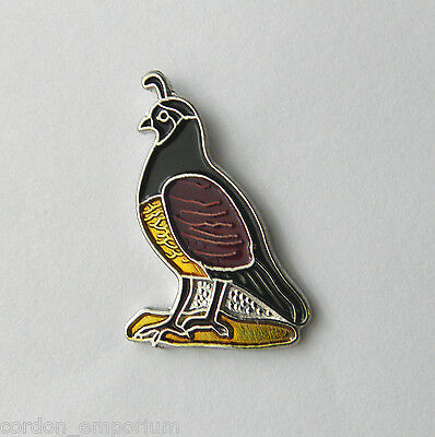 BIRD PHARAOH QUAIL LAPEL PIN BADGE 3/4 INCH