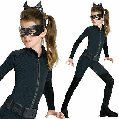 Kinder Catwoman Kinder Batman Dark Knight Mädchen Kostüm Maske Neu