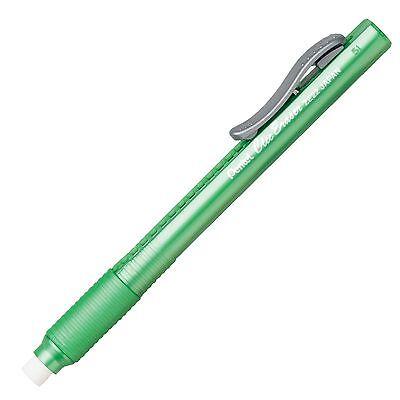 Pentel Clic Eraser Lt Grip Green Barrel Pentel Ze22k - 12pk