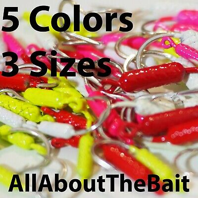 75 pack - MIXED - COLOR/SIZE - Yellowtail Snapper Jigs - Mustad Saltwater Hook