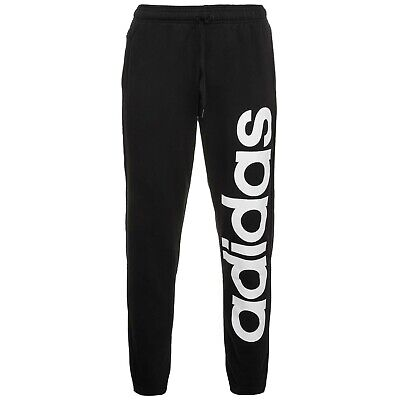 Adidas Mens Essentials Track Pants Logo Joggers Casual Lounge Black DQ3075