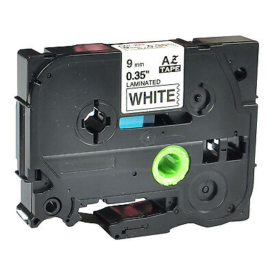 1pk Tz221 Tze221 Black On White Label Tape For Brother P-touch Pt-1280 9mm 38
