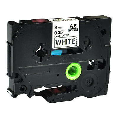 Black On White Tape Compatible For Brother Tz Tze 221 Tze221 P-touch 9mm