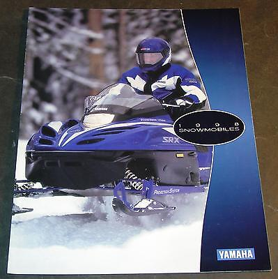 1998 YAMAHA SNOWMOBILE SALES BROCHURE 8 PAGES NICE     (750)