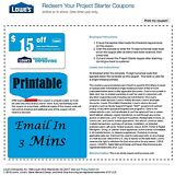 Three (3x) Lowes $15 OFF $50-Coupons PRINTABLE Exp 3/5/2017 Very Fast Email