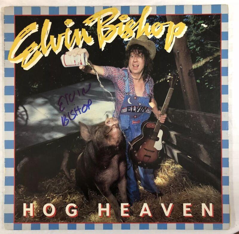 ELVIN BISHOP HAND SIGNED HOG HEAVEN ALBUM VINYL AUTOGRAPHED RARE AUTHENTIC