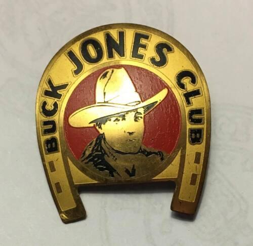 Vintage 1937 Buck Jones Club Metal Pin Premium Badge