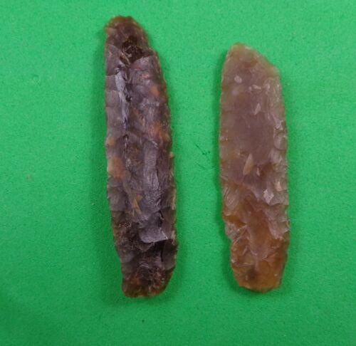 NORTH DAKOTA ARROWHEADS -TWO DANDY SIDE KNIVES - HIGH PLAINS - KNIFE RIVER FLINT