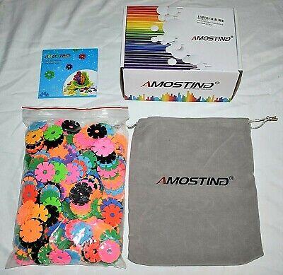 Education STEM Toys Plastic Disc Set Brain Flakes x360 PCS w/ Bag Free Shipping!