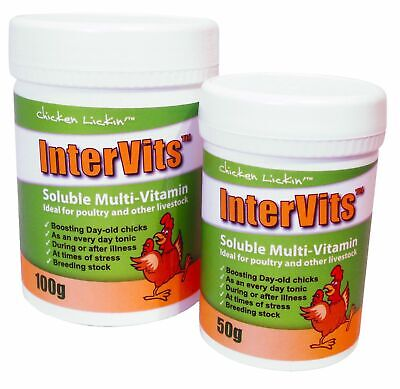 100g Intervits Soluble Multi-vitamin Poultry Bantam Chicken Hatching Eggs Tonic