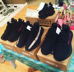 Authentic Bred yeezy 350 v2, size us9.5 and 10.5