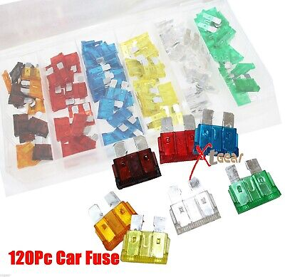 New 120PC Trucks SUV'S Auto Fuses Assorted Color Coded Car Fuse