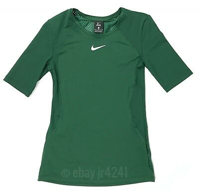 New Nike Pro Hypercool SS Shirt Training Top Green Mesh Back Women's M 897828