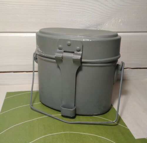 Original Russian Army Mess Kit GDR Military Lunch Box Canteen Pot Kettle Soviet