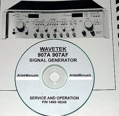 Wavetek 907a 907af Signal Generator Service Ops Manual Schematics