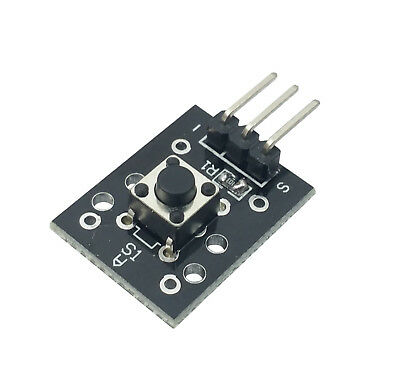 5pcs Ky-004 Ky04 Ky004 3 Pin Button Key Switch Sensor Module Shield For Arduino