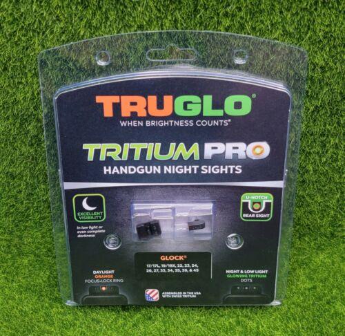 TruGlo Tritium PRO Night Sights Glock 17/19/22/23/24/26/27 Orange Ring -TG231G1C