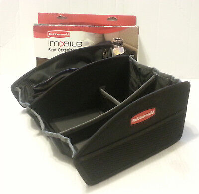 NEW Rubbermaid Auto Mobile Soft Front Seat Organizer - Car Accessory Cup Holder