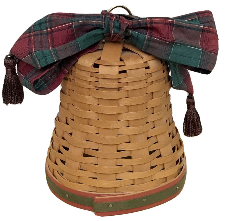Longaberger Noel Bell Basket 2000, Tassel Tie