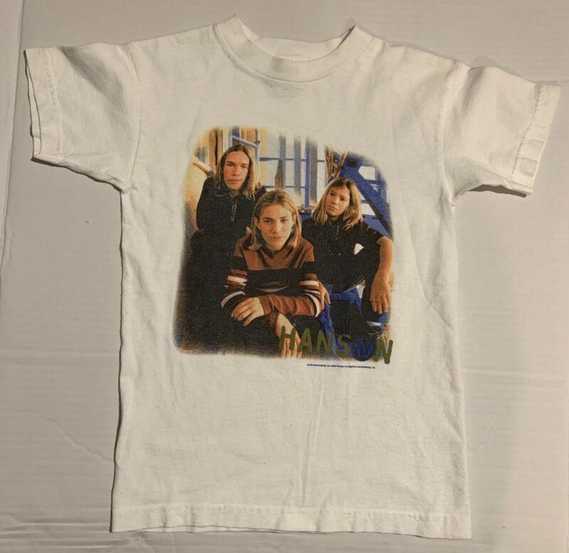 Vintage rock t-shirt - 1998 - Hanson - Kids Size 10-12 Original Rare