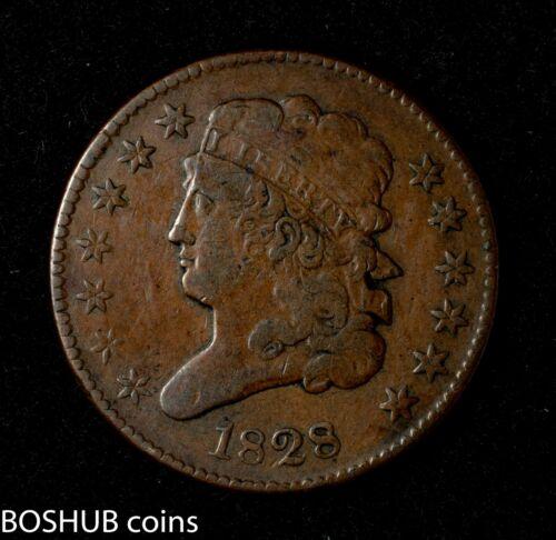 1828 Classic Head Half Cent 1/2c 13 stars